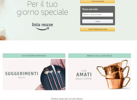 Liste di Nozze su Amazon